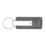 Ford F-150 Raptor Keychain & Keyring - Gun Metal Carbon Fiber Texture Leather