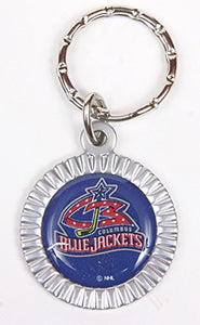 Columbus Blue Jackets NHL Keychain & Keyring - Circle