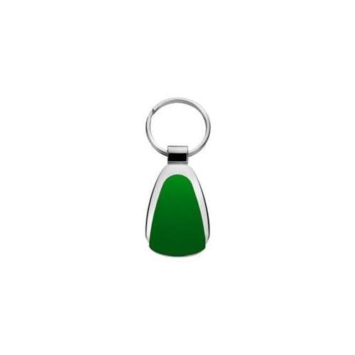 Metal Promotional Keychain & Keyring - Green Teardrop