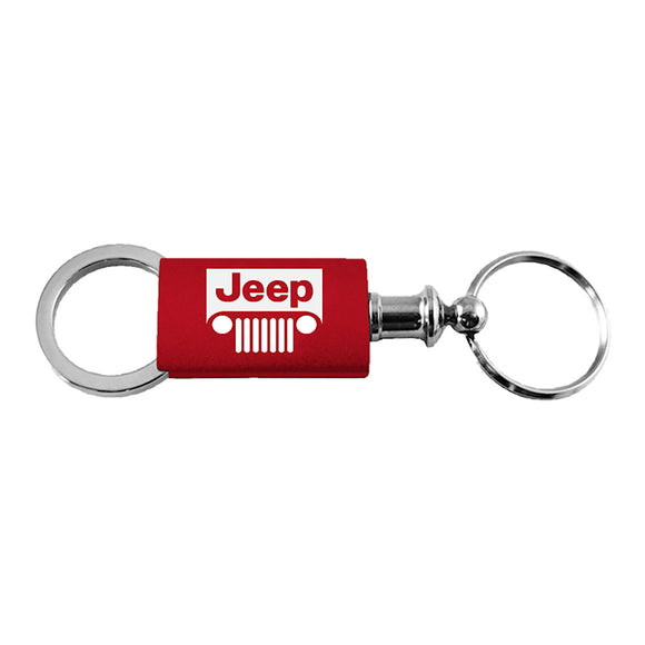 Jeep Grill Keychain & Keyring - Red Valet