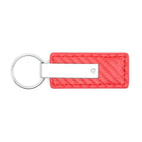 Mazda Miata MX-5 Keychain & Keyring - Red Carbon Fiber Texture Leather