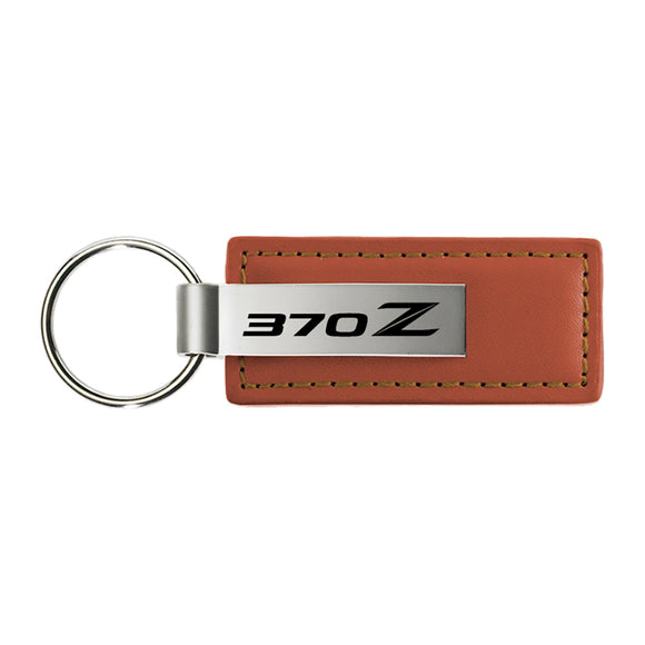 Nissan 370z Keychain & Keyring - Brown Premium Leather