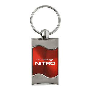 Dodge Nitro Keychain & Keyring - Red Wave