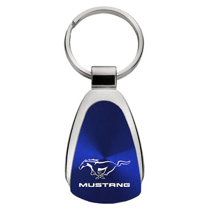 Ford Mustang Keychain & Keyring - Blue Teardrop