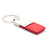 Ford Mustang 45th Anniversary Keychain & Keyring - Duo Premium Red Leather