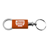 Jeep Grill Keychain & Keyring - Orange Valet