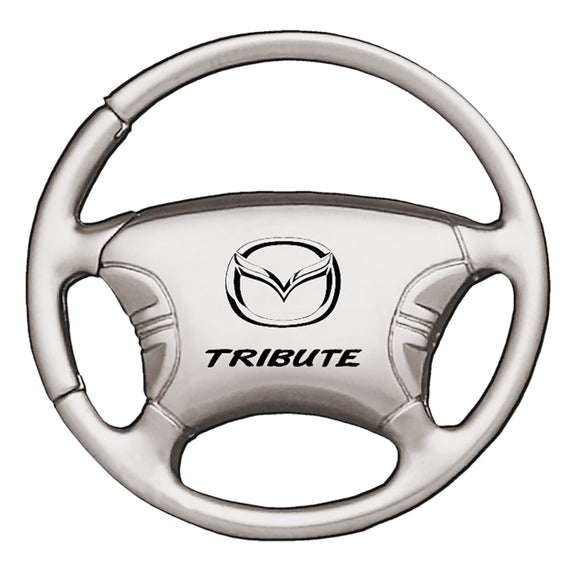 Mazda Tribute Keychain & Keyring - Steering Wheel
