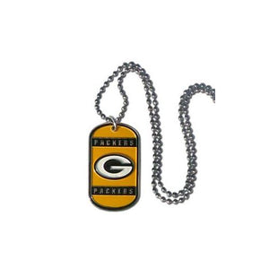 Green Bay Packers NFL Keychain & Keyring - Dog Tag