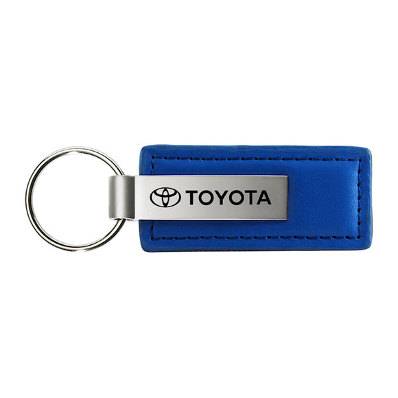 Toyota Keychain & Keyring - Blue Premium Leather