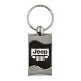 Jeep Grill Keychain & Keyring - Black Wave
