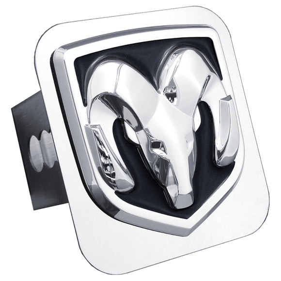 Dodge Ram OEM Logo Trailer Hitch Plug - Chrome