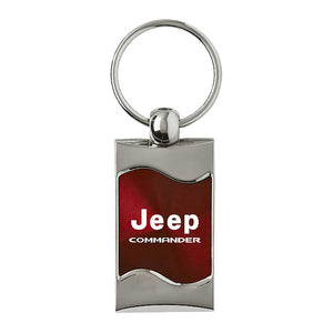 Jeep Commander Keychain & Keyring - Burgundy Wave