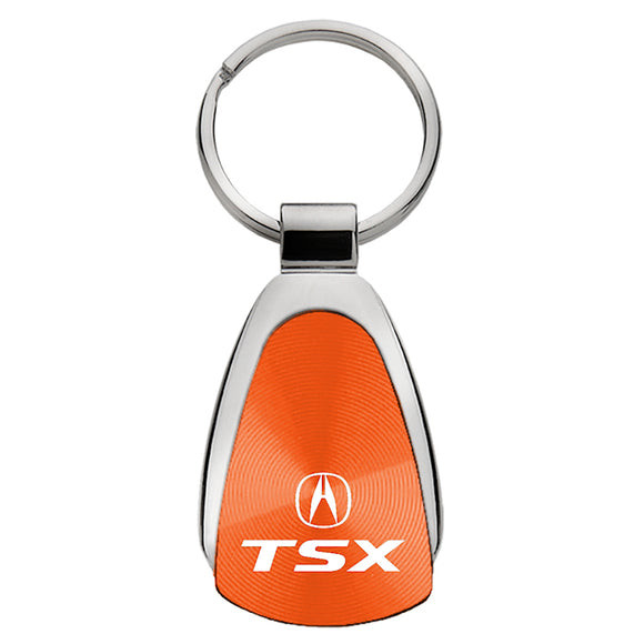 Acura TSX Keychain & Keyring - Orange Teardrop