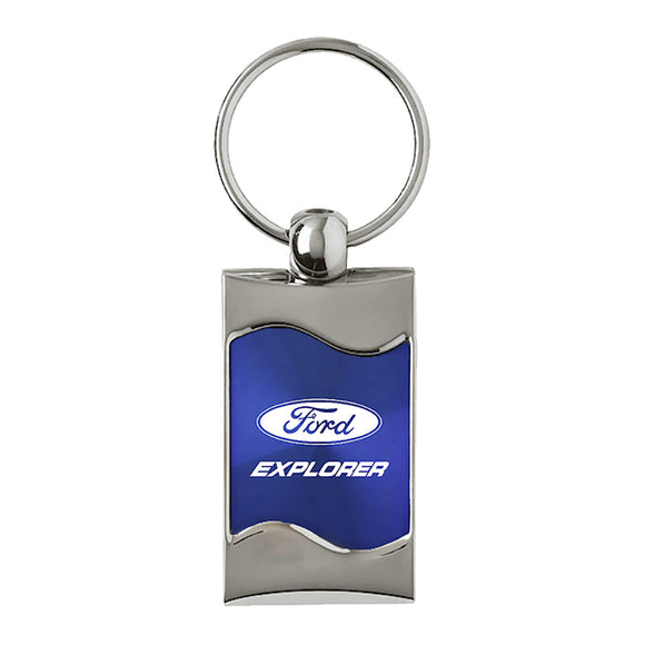 Ford Explorer Keychain & Keyring - Blue Wave