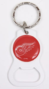 Detroit Red Wings NHL Keychain & Keyring - Bottle Opener - White