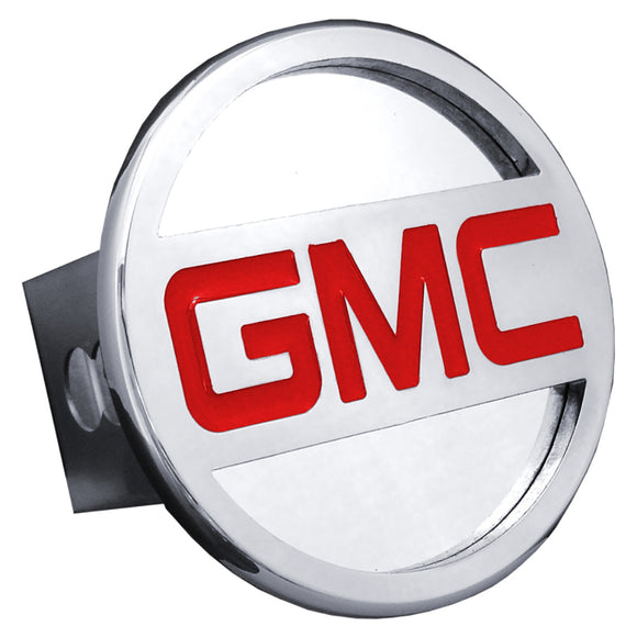 GMC Name Chrome Trailer Hitch Plug