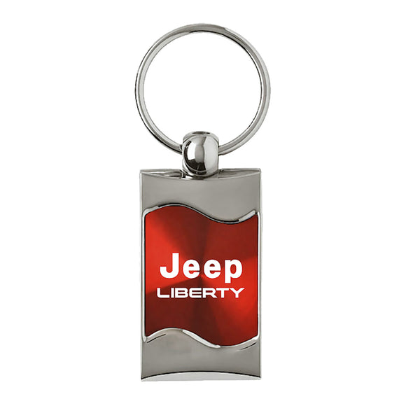 Jeep Liberty Keychain & Keyring - Red Wave