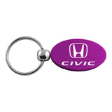 Honda Civic Keychain & Keyring - Purple Oval