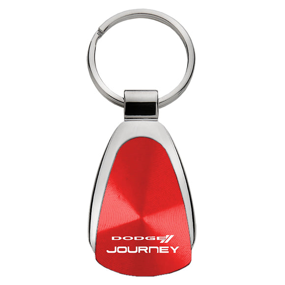 Dodge Journey Keychain & Keyring - Red Teardrop