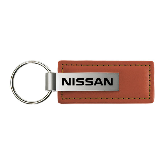 Nissan Keychain & Keyring - Brown Premium Leather