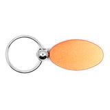 Lincoln Keychain & Keyring - Orange Oval