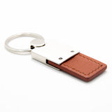Jeep Wrangler Keychain & Keyring - Duo Premium Brown Leather