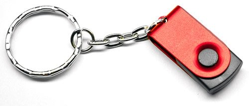 USB Flash Drive Keychain & Keying - 1GB (Red)