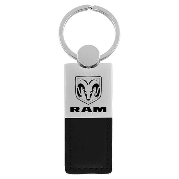 Dodge Ram Keychain & Keyring - Duo Premium Black Leather