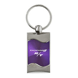 Dodge R/T Keychain & Keyring - Purple Wave
