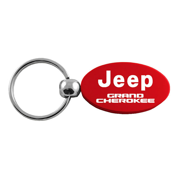 Jeep Grand Cherokee Keychain & Keyring - Red Oval