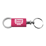 Jeep Grill Keychain & Keyring - Pink Valet