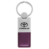 Toyota Corolla Keychain & Keyring - Duo Premium Purple Leather
