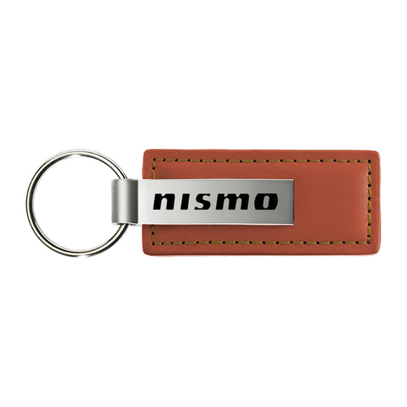 Nissan Nismo Keychain & Keyring - Brown Premium Leather