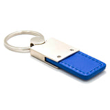 Chrysler Crossfire Keychain & Keyring - Duo Premium Blue Leather