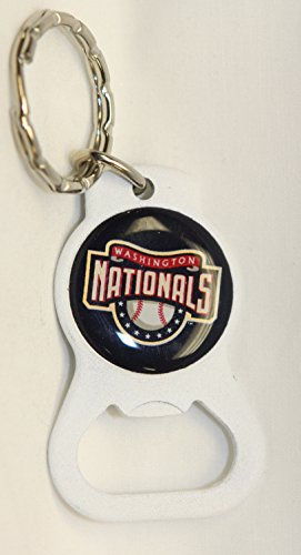 Washington Nationals MLB Keychain & Keyring - Bottle Opener - White