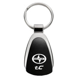 Scion tC Keychain & Keyring - Black Teardrop