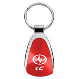 Scion tC Keychain & Keyring - Red Teardrop