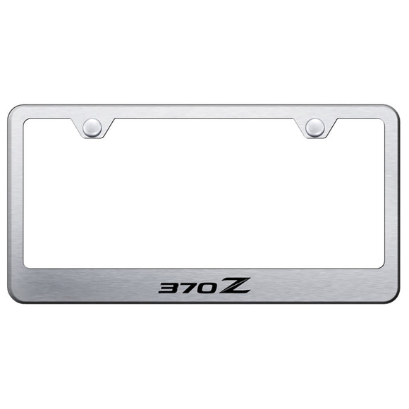 Nissan 370Z Brushed License Plate Frame