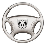 Dodge Ram Head Keychain & Keyring - Steering Wheel