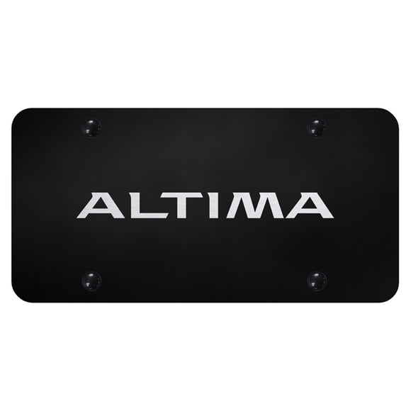 Nissan Altima Laser Etched on Black Plate