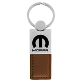 Mopar Keychain & Keyring - Duo Premium Brown Leather