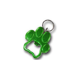 Pawprint Keychain & Keyring - Bottle Opener - Green