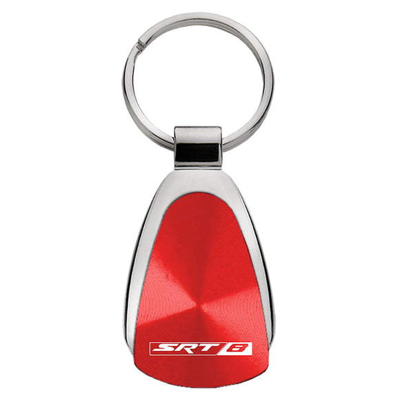 Dodge SRT-8 Keychain & Keyring - Red Teardrop