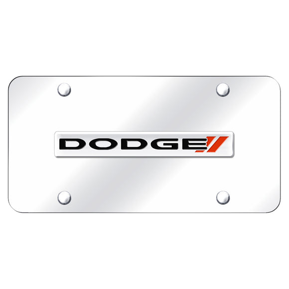 Dodge Stripe Logo Chrome on Chrome Plate
