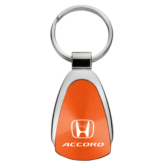 Honda Accord Keychain & Keyring - Orange Teardrop