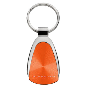 Plymouth Classic Keychain & Keyring - Orange Teardrop