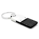 Chrysler Keychain & Keyring - Duo Premium Black Leather