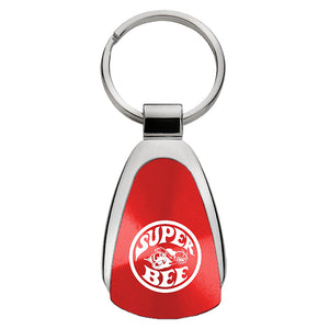 Dodge Super Bee Keychain & Keyring - Red Teardrop