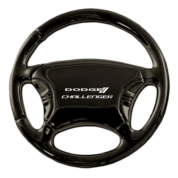 Dodge Challenger Keychain & Keyring - Black Steering Wheel