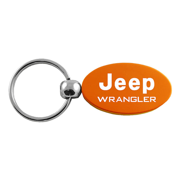 Jeep Wrangler Keychain & Keyring - Orange Oval